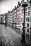 Foto in bianco e nero con gli elementi di rosso Fotografia Stock Libera da Diritti