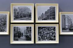 Foto in bianco e nero di Hong Kong vecchie Immagini Stock Libere da Diritti