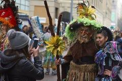 Foto bij de Parade van de de Onafhankelijkheidsdag van Bolivië Royalty-vrije Stock Foto