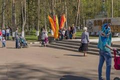Foto bij het monument van Glorie royalty-vrije stock foto's