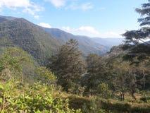 Foto bij klein dorp in het mooie land dat bhutan wordt genomen Stock Fotografie