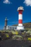 Foto-Bild des klassischen Leuchtturmes in Fuencaliente Lizenzfreie Stockfotografie