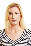 Foto biométrica do passaporte da mulher fotos de stock royalty free