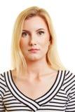 Foto biometrica del passaporto della donna Fotografie Stock Libere da Diritti