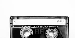 Foto blanco y negro de la cinta vieja de la música Imagenes de archivo