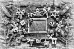 Foto blanco y negro de Pekín, China Año Nuevo La Navidad juega hecho en casa y la decoración, Fotos de archivo libres de regalías