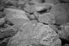 Foto blanco y negro de piedra Imagenes de archivo