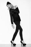 Foto blanco y negro del modelo hermoso Fotos de archivo