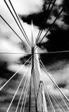 Foto blanco y negro del puente Fotografía de archivo libre de regalías