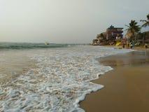 Foto bonita da praia de Sri Lanka praia do hikkaduwa foto de stock