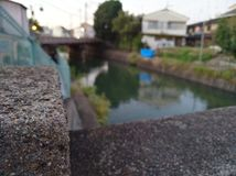 Foto borrada do lago do fundo fotografia de stock