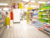 Foto borrosa abstracta del supermercado sin la gente foto de archivo libre de regalías