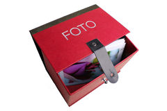 Foto-box red. Red box for foto collections - see also the foto boxes in different colours Royalty Free Stock Photography