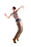 Foto brillante del bailarín animado Fotografía de archivo libre de regalías