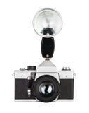 Foto-cámara vieja de la película del vintage Fotos de archivo