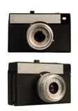 Foto-câmera antiquado no fundo branco Fotografia de Stock Royalty Free
