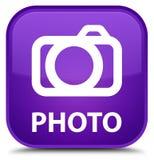 Foto (camerapictogram) speciale purpere vierkante knoop Royalty-vrije Stock Fotografie