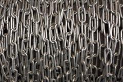 Foto Chain da textura do fundo do metal do montão Fotos de Stock Royalty Free