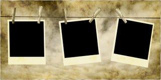 Foto che appendono sulla corda Fotografie Stock Libere da Diritti