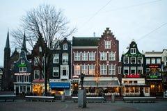 Foto classica della via di Amsterdam fotografia stock