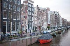 Foto classica della via di Amsterdam fotografie stock