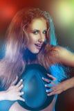 Foto colorida de la muchacha divertida Foto de archivo libre de regalías