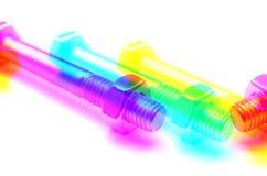 Foto colorido do parafuso e da porca Fotografia de Stock