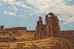 Foto común de la formación de roca roja, parque nacional de los arcos Imagenes de archivo