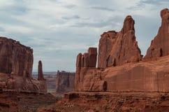 Foto común de la formación de roca roja, parque nacional de los arcos Imágenes de archivo libres de regalías