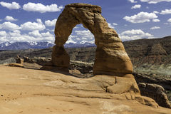 Foto común de la formación de roca roja, parque nacional de los arcos Imagen de archivo libre de regalías