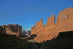 Foto común de la formación de roca roja, parque nacional de los arcos Fotos de archivo