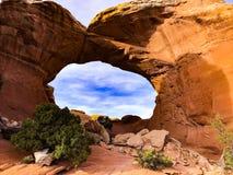 Foto común de la formación de roca roja, parque nacional de los arcos foto de archivo libre de regalías