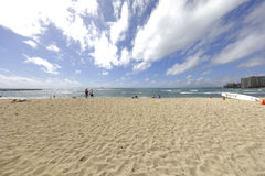 Foto común de la playa Hawaii de Waikiki foto de archivo libre de regalías