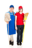Foto común de trabajadores adolescentes serios Imagen de archivo
