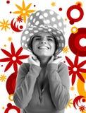 Foto común de una mujer bonita joven stock de ilustración