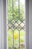 Foto común de una ventana de cristal plomada Fotos de archivo libres de regalías