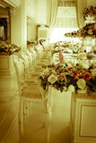Foto común - sitio y sala de estar magníficos de lujo de Dinning Fotografía de archivo