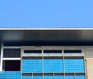 Foto comercial moderna do fundo da construção Imagem de Stock Royalty Free