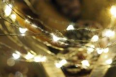 Foto con el fondo borroso extracto Efecto borroso, colores brillantes Días de fiesta, la Navidad, Año Nuevo Imagen de archivo libre de regalías