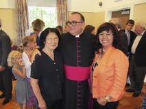 Foto con el nuevo sacerdote Foto de archivo libre de regalías