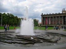 Foto con gli elementi del fondo e di architettura del pæsaggio della fontana Fotografia Stock Libera da Diritti