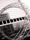 Foto con il fondo del paesaggio di progettazione architettonica, Immagine Stock