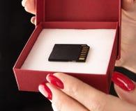 Foto conceptual de um microSD - símbolo alternativo fotografia de stock