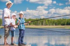 Foto concettuale - la pesca è il vostro hobby favorito immagine stock