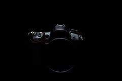 Foto conservada em estoque chave/imagem da câmera moderna profissional de DSLR baixa Foto de Stock