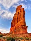 Foto conservada em estoque da formação de rocha vermelha, parque nacional dos arcos Foto de Stock