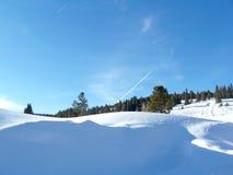 Foto conservada em estoque da paisagem do inverno da passagem de Colorado Vail Imagens de Stock Royalty Free