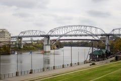 Foto conservada em estoque das pontes em Nashville Fotos de Stock