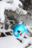 Foto conservada em estoque - decoração da esfera da árvore de Natal Imagem de Stock