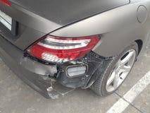 Foto conservada em estoque: Fundo do acidente de viação Imagem de Stock Royalty Free